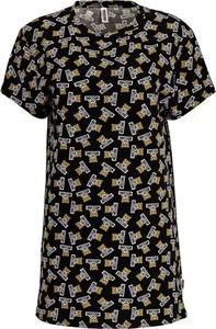Sukienka Moschino z krótkim rękawem midi z okrągłym dekoltem