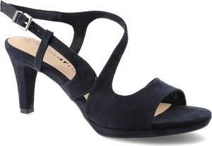 Czarne sandały Tamaris ze skóry