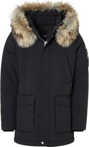 Czarna kurtka ROCKANDBLUE długa w stylu casual