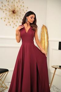 Sukienka Marconifashion maxi z dekoltem w kształcie litery v