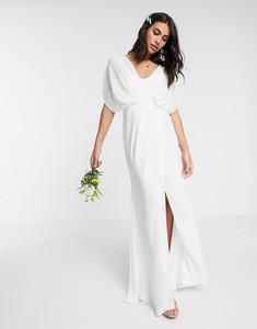 Sukienka Asos Design z tkaniny z dekoltem w kształcie litery v