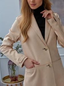 Różowy płaszcz Rino & Pelle z zamszu