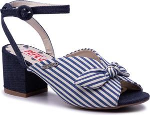 Granatowe sandały Pepe Jeans z klamrami