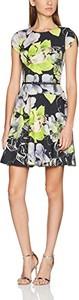 Sukienka amazon.de rozkloszowana z okrągłym dekoltem z krótkim rękawem