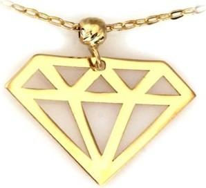 Lovrin Złoty naszyjnik 585 celebrytka diamencik z kuleczką
