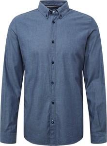 Niebieska koszula Tom Tailor z bawełny z długim rękawem