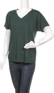T-shirt VIVANCE z dekoltem w kształcie litery v w stylu casual z krótkim rękawem