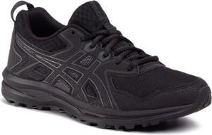 Czarne buty sportowe ASICS z płaską podeszwą sznurowane