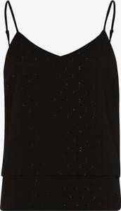 Czarny top Vila z dekoltem w kształcie litery v z szyfonu