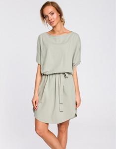 Zielona sukienka MOE w stylu casual