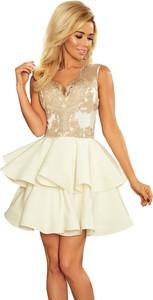 Sukienka NUMOCO rozkloszowana z dekoltem w kształcie litery v mini