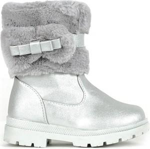 Srebrne buty dziecięce zimowe Royalfashion.pl