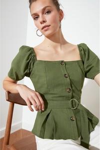 Bluzka Trendyol w stylu casual z lnu