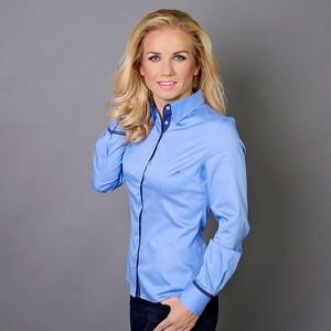 Niebieska koszula Willsoor w stylu casual