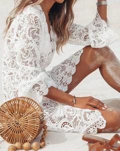 Sukienka Kendallme oversize z okrągłym dekoltem mini