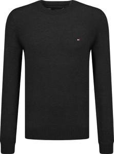 Czarny sweter Tommy Hilfiger z wełny