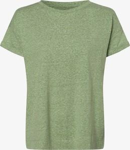 Zielony t-shirt Esprit w stylu casual z okrągłym dekoltem