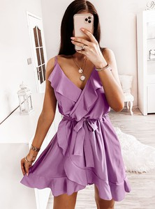 Sukienka Pakuten na ramiączkach w stylu casual mini