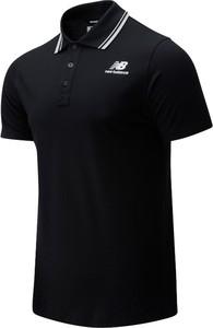 Czarny t-shirt New Balance z bawełny w sportowym stylu