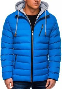 Niebieska kurtka Ombre Clothing