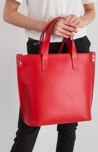 Czerwona torebka Rovicky w stylu glamour ze skóry