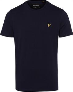 Granatowy t-shirt Lyle & Scott z krótkim rękawem w stylu casual