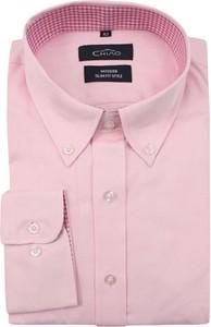 Różowa koszula Chiao z bawełny