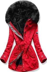 Czerwona kurtka Netmoda z bawełny