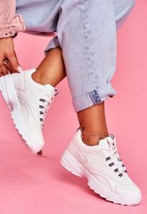 Buty sportowe Pe1 z płaską podeszwą ze skóry ekologicznej sznurowane