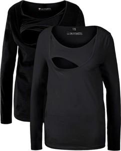 Shirt ciążowy i do karmienia piersią (2 szt.), bawełna organiczna | bonprix