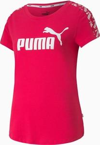 Bluzka Puma z okrągłym dekoltem w sportowym stylu z tkaniny