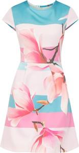 Sukienka bonprix BODYFLIRT boutique midi bez rękawów z neoprenu