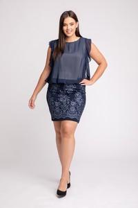 Granatowa sukienka Maravilla Boutique mini
