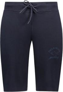 Niebieskie spodenki Paul & Shark w sportowym stylu z dresówki