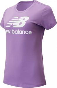 Bluzka New Balance z bawełny w sportowym stylu
