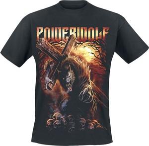 T-shirt Powerwolf z nadrukiem z krótkim rękawem