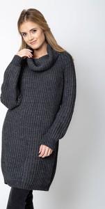 Czarny sweter QUIOSQUE w stylu casual