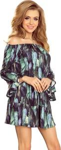 Sukienka NUMOCO hiszpanka rozkloszowana z długim rękawem