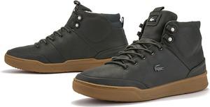 Buty zimowe Lacoste sznurowane ze skóry