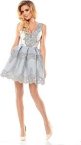 d50de24aaa szara sukienka na sylwestra - stylowo i modnie z Allani