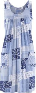 Sukienka bonprix bpc bonprix collection z okrągłym dekoltem bez rękawów midi