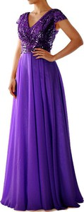 Fioletowa sukienka Sandbella maxi z dekoltem w kształcie litery v