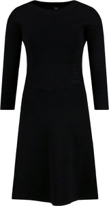 Czarna sukienka Guess Jeans z długim rękawem mini