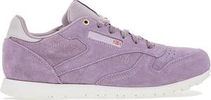 Fioletowe buty Reebok sznurowane z płaską podeszwą