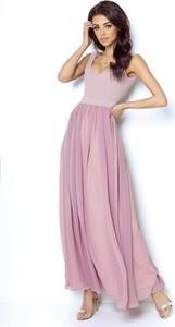 Sukienka Ivon z okrągłym dekoltem maxi
