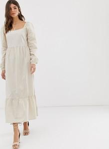 Sukienka Vila maxi z długim rękawem