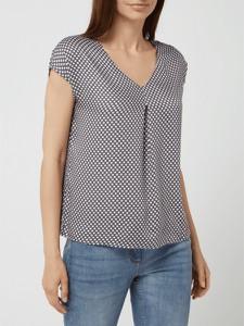 Bluzka Montego z krótkim rękawem z dekoltem w kształcie litery v