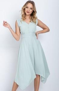 Sukienka Royalfashion.pl z dekoltem w kształcie litery v
