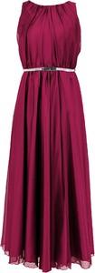 Sukienka Camill Fashion z szyfonu bez rękawów