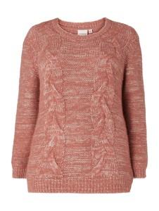 Fioletowy sweter Junarose w stylu casual
